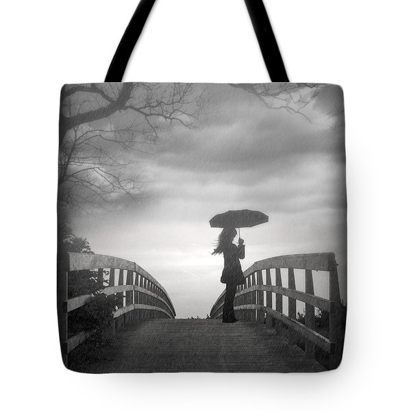 Rainy Day Tote Bag by Nina Bradica