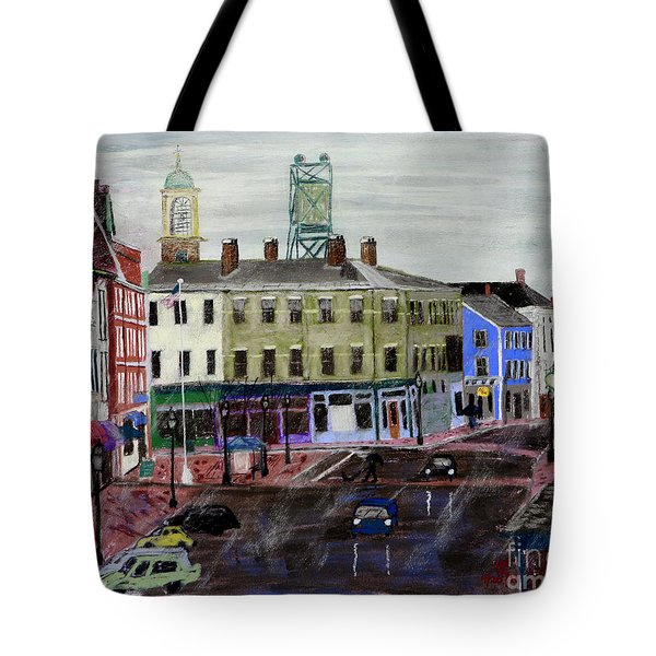 Rainy Day On Market Square Tote Bag