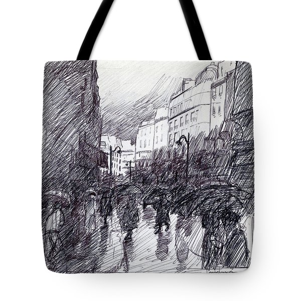 Rainy Day Paris Tote Bag