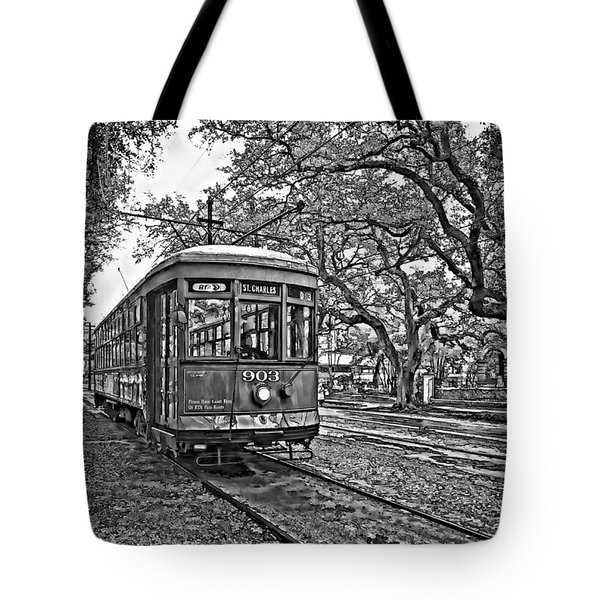 Rainy Day Ridin' Monochrome Tote Bag