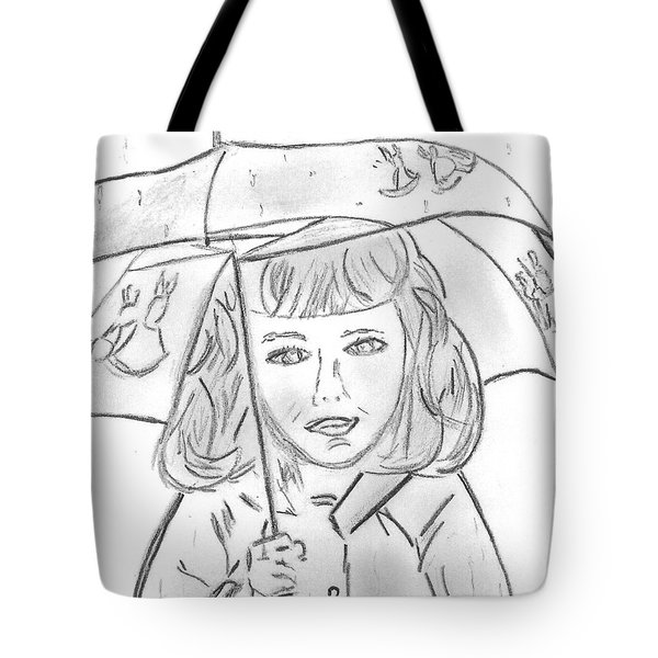 Rainy Day Smile Tote Bag by Elizabeth Briggs