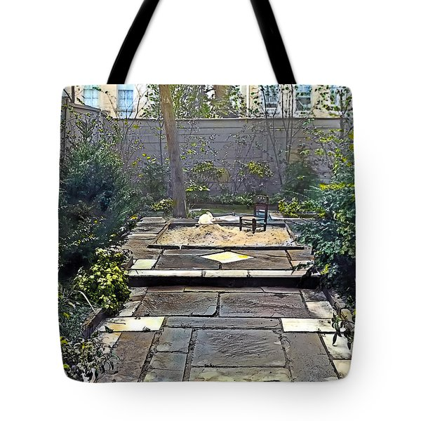 Rainy Day With Rabbit And Chair Tote Bag by Terry Reynoldson