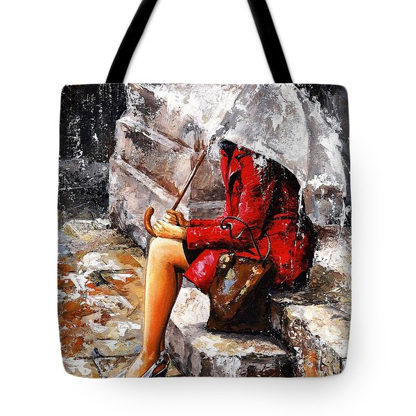 Rainy Day - Woman Of New York Tote Bag
