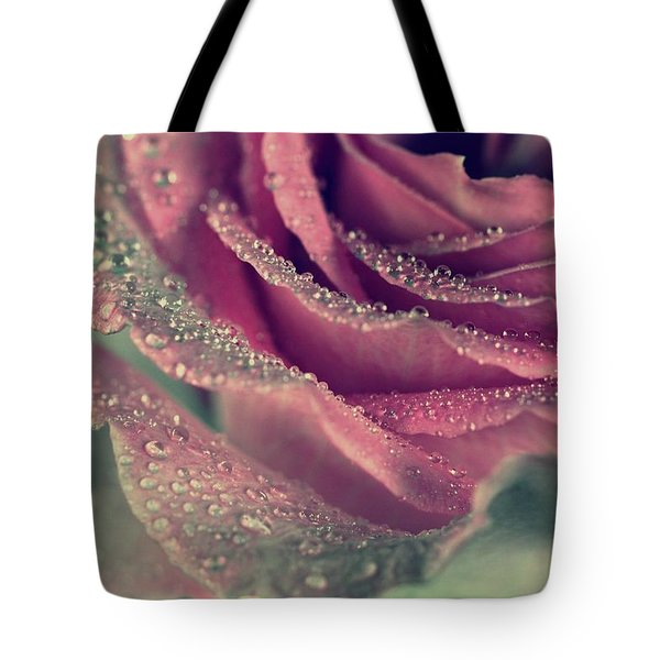Tote Bag featuring the photograph Rainy Days Of Rose by The Art Of Marilyn Ridoutt-Greene