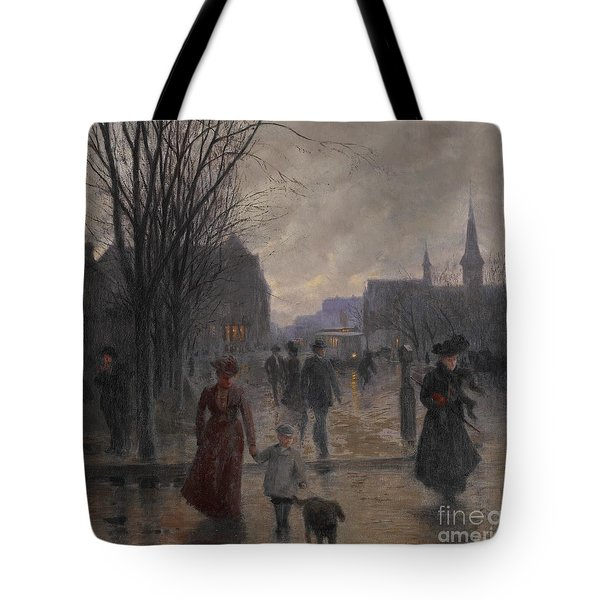 Rainy Evening On Hennepin Avenue Tote Bag by Robert Koehler