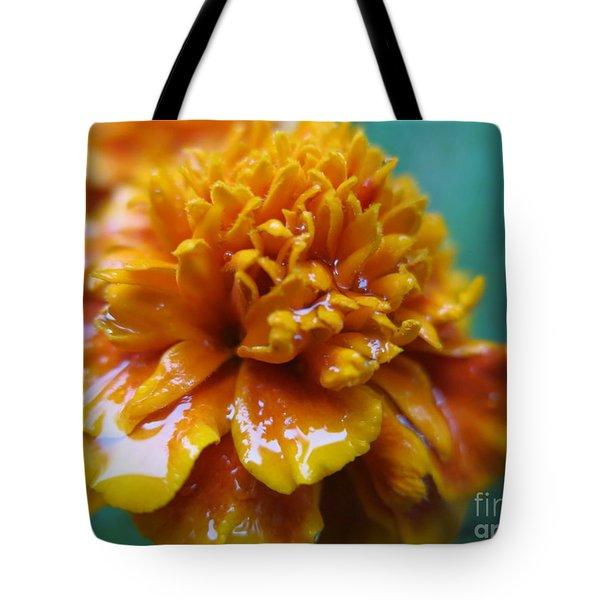 Rainy Marigolds Tote Bag