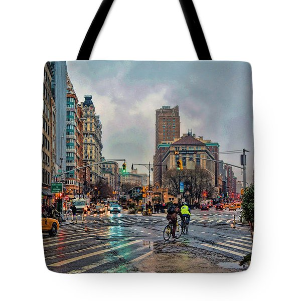 X-ing Broadway Tote Bag by Jeffrey Friedkin