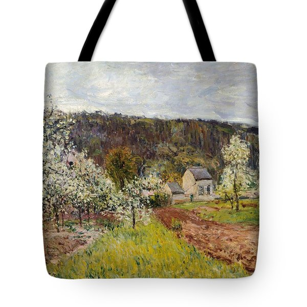Rainy Spring Near Paris Tote Bag by Alfred Sisley