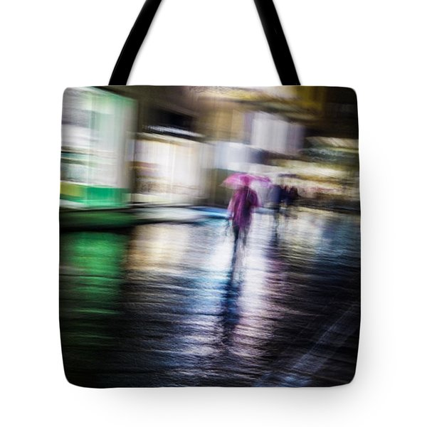 Rainy Streets Tote Bag by Alex Lapidus