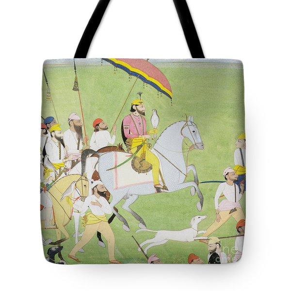 Rajah Dhian Singh Hunting Tote Bag by Indian School