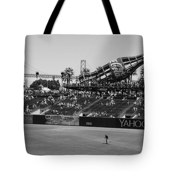 Raking The Lawn Tote Bag
