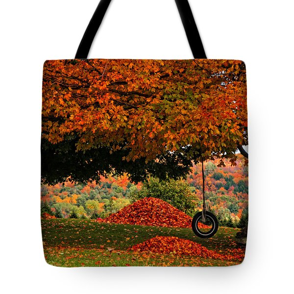 Raking's All Done... Tote Bag by Mike Martin