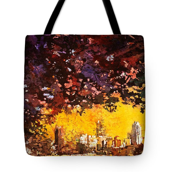 Raleigh Downtown Tote Bag by Ryan Fox