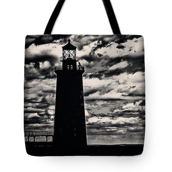 Ram Island Ledge Light Tote Bag by Karol Livote