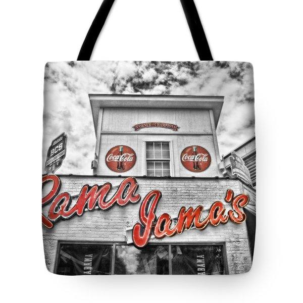 Rama Jama's Tote Bag by Scott Pellegrin