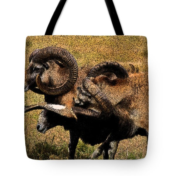 Tote Bag featuring the photograph Rams At Half-time by Doc Braham
