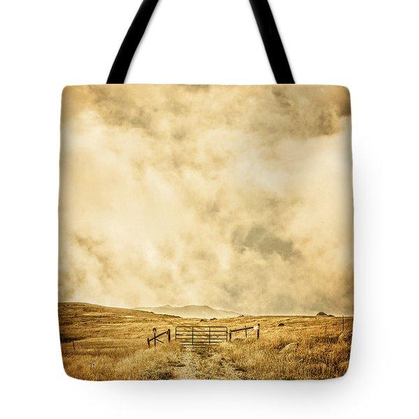 Ranch Gate Tote Bag by Edward Fielding