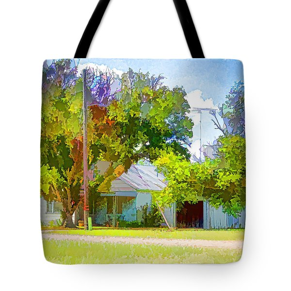 Ranch House Painting Tote Bag