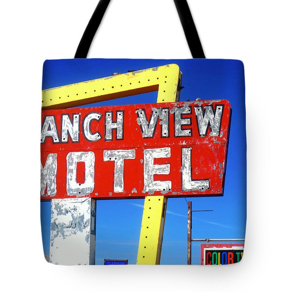 Ranch View Motel Tote Bag