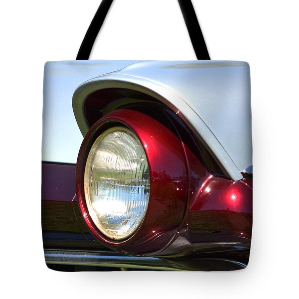 Ranch Wagon Headlight Tote Bag by Dean Ferreira