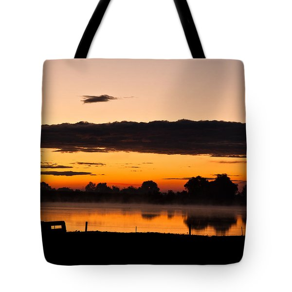 Rancher's Sunrise Tote Bag by Steven Reed