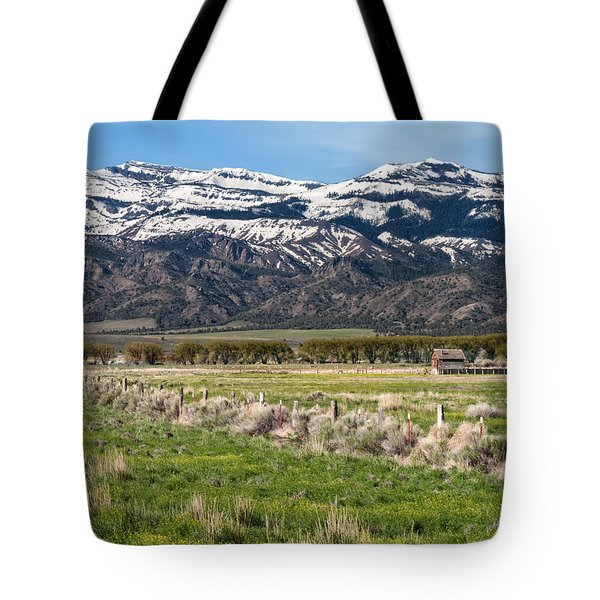 Ranching In Modoc Tote Bag by Kathleen Bishop