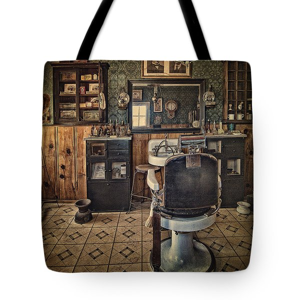 Randsburg Barber Shop Interior Tote Bag