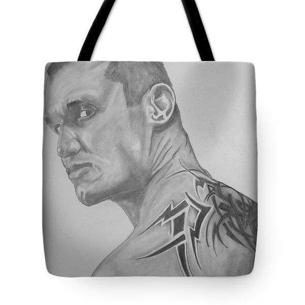 Randy Orton Tote Bag by Justin Moore
