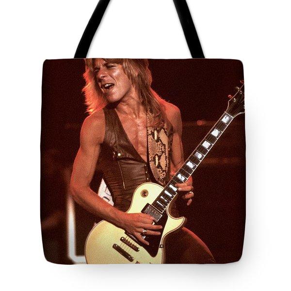 Guitarist Randy Rhoads Tote Bag