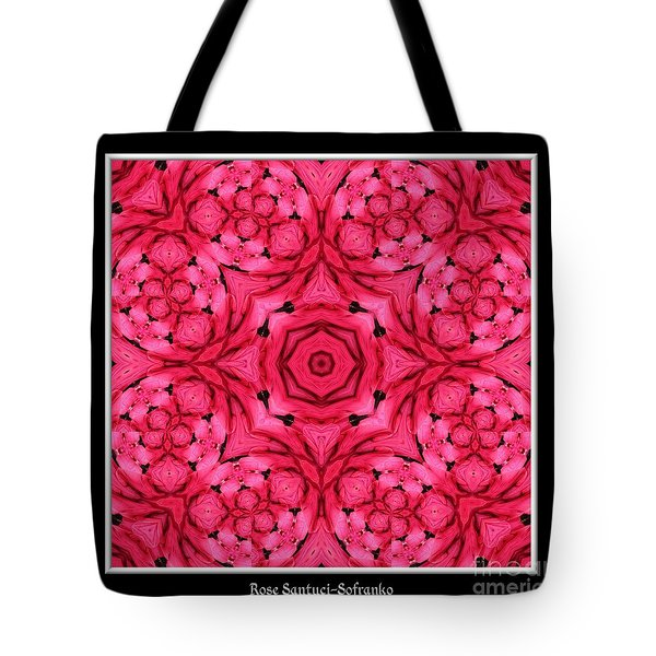 Tote Bag featuring the photograph Ranunculus Flower Warp by Rose Santuci-Sofranko