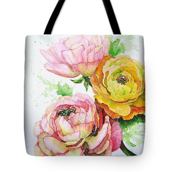Ranunculus Flowers Tote Bag