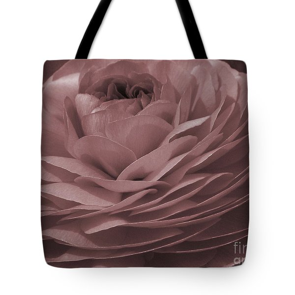 Tote Bag featuring the photograph Ranunculus Red by Jean OKeeffe Macro Abundance Art