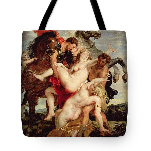 Rape Of The Daughters Of Leucippus Tote Bag