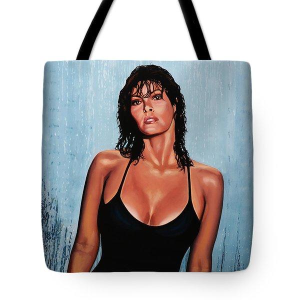 Raquel Welch Tote Bag by Paul Meijering