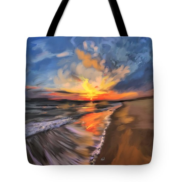 Rare California Sunset Tote Bag by Angela A Stanton