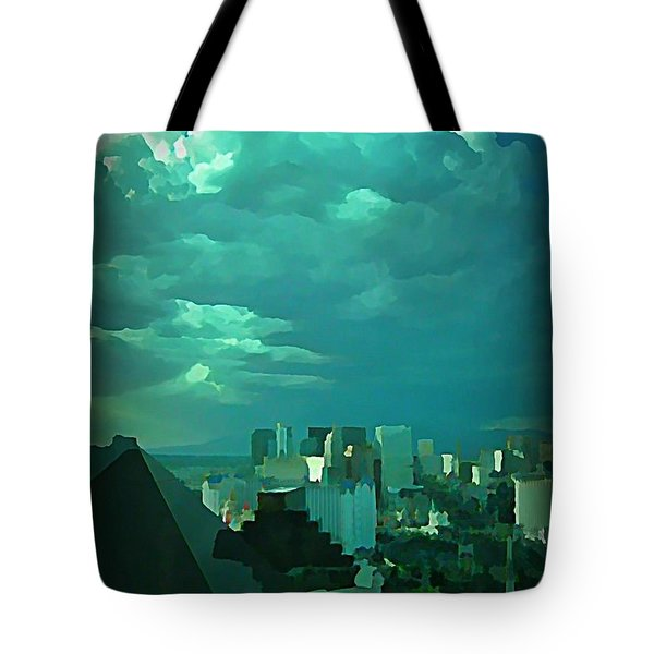 Rare Clouds Over Vegas Tote Bag by John Malone