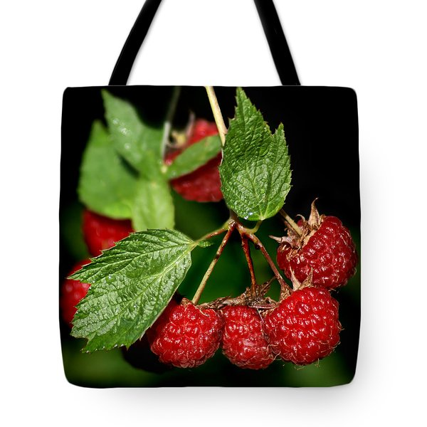 Raspberries Tote Bag