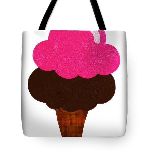 Raspberry And Chocolate Ice Cream Cone  Tote Bag