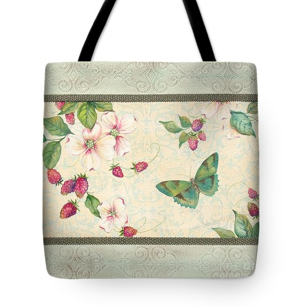 Raspberry Bliss Tote Bag by Jean PLout