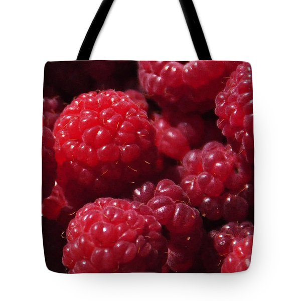 Raspberry Crave Tote Bag by Elena Hasnas