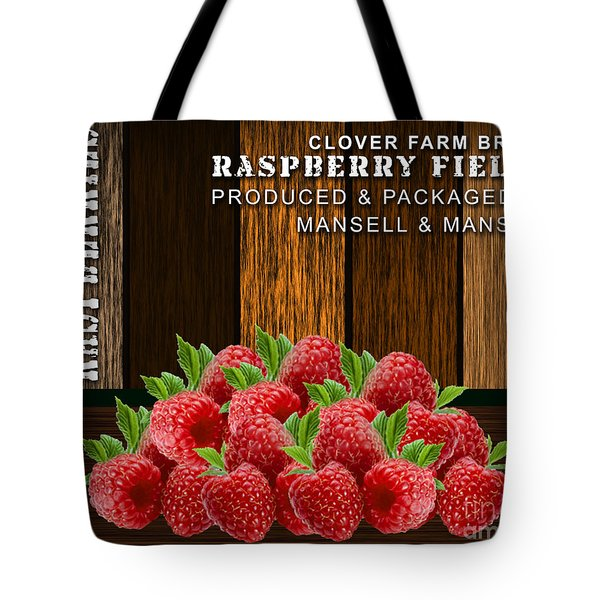 Raspberry Fields Forever Tote Bag by Marvin Blaine