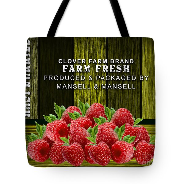 Raspberry Fields Tote Bag by Marvin Blaine