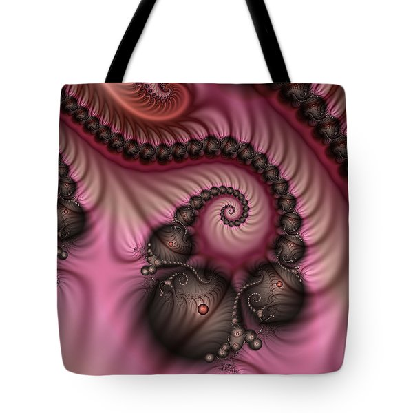 Tote Bag featuring the digital art Raspberry Ice Cream For Breakfast by Gabiw Art