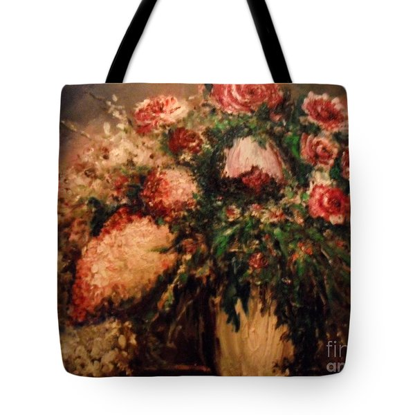 Tote Bag featuring the painting Raspberry Jammies by Laurie L