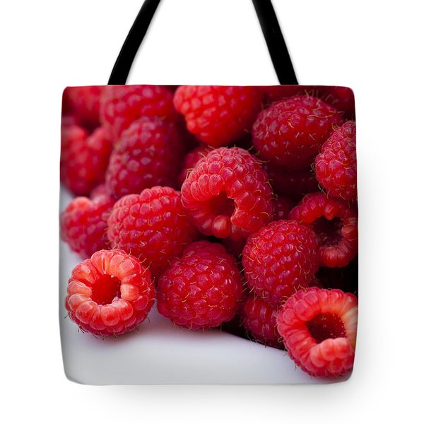 Raspberry Red Tote Bag by Anne Gilbert