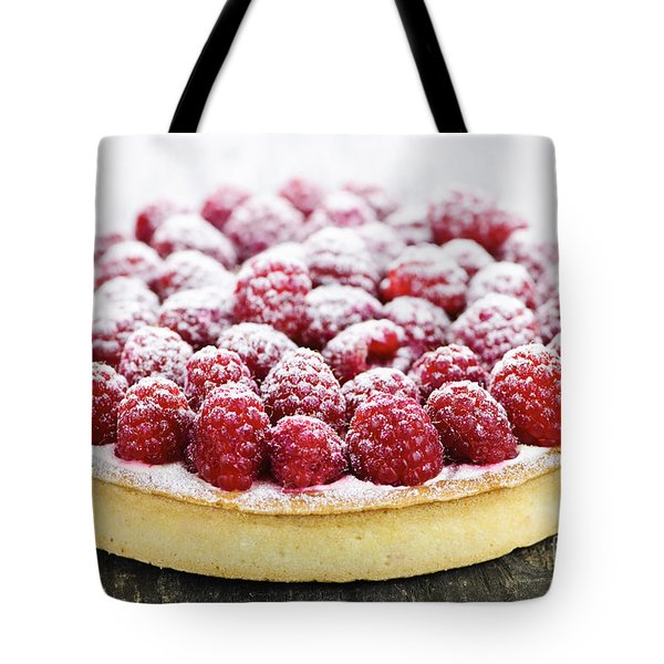 Raspberry Tart Tote Bag by Elena Elisseeva