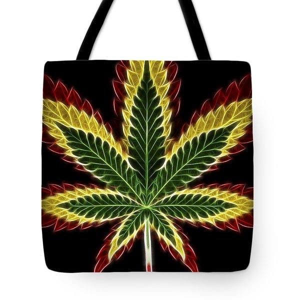 Rasta Marijuana Tote Bag by Adam Romanowicz
