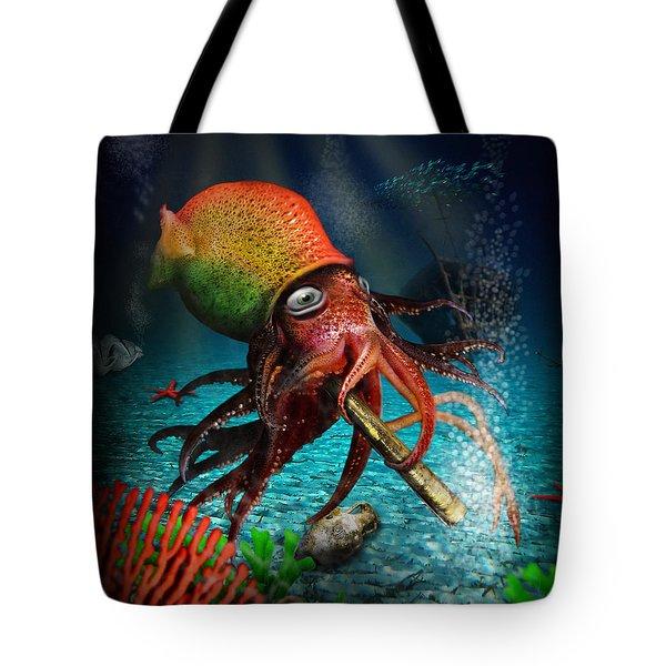 Rasta Squid Tote Bag by Alessandro Della Pietra