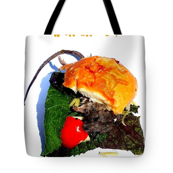 Ratburger With Cheese Tote Bag