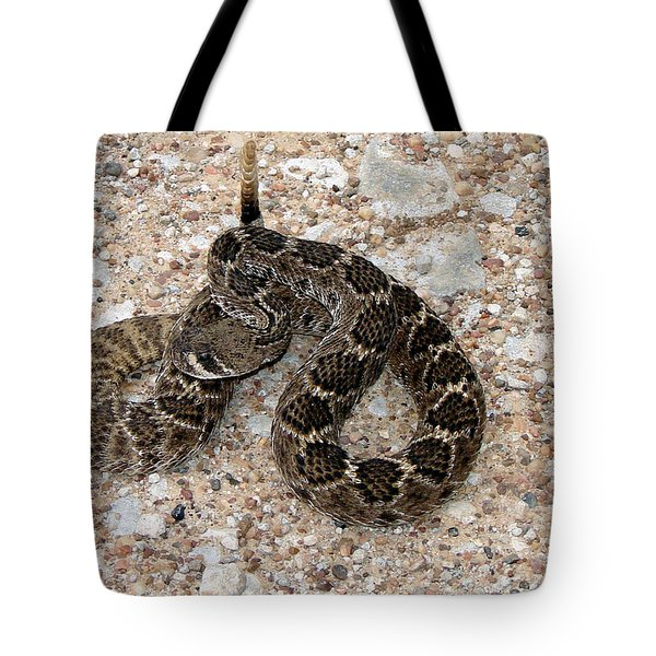 Tote Bag featuring the photograph Rattler by Linda Cox